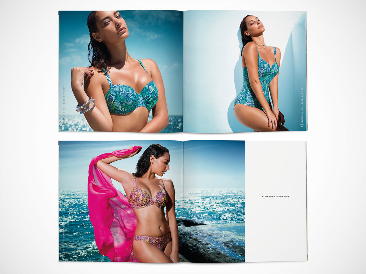 Billboards mockups with photography of PrimaDonna Swim