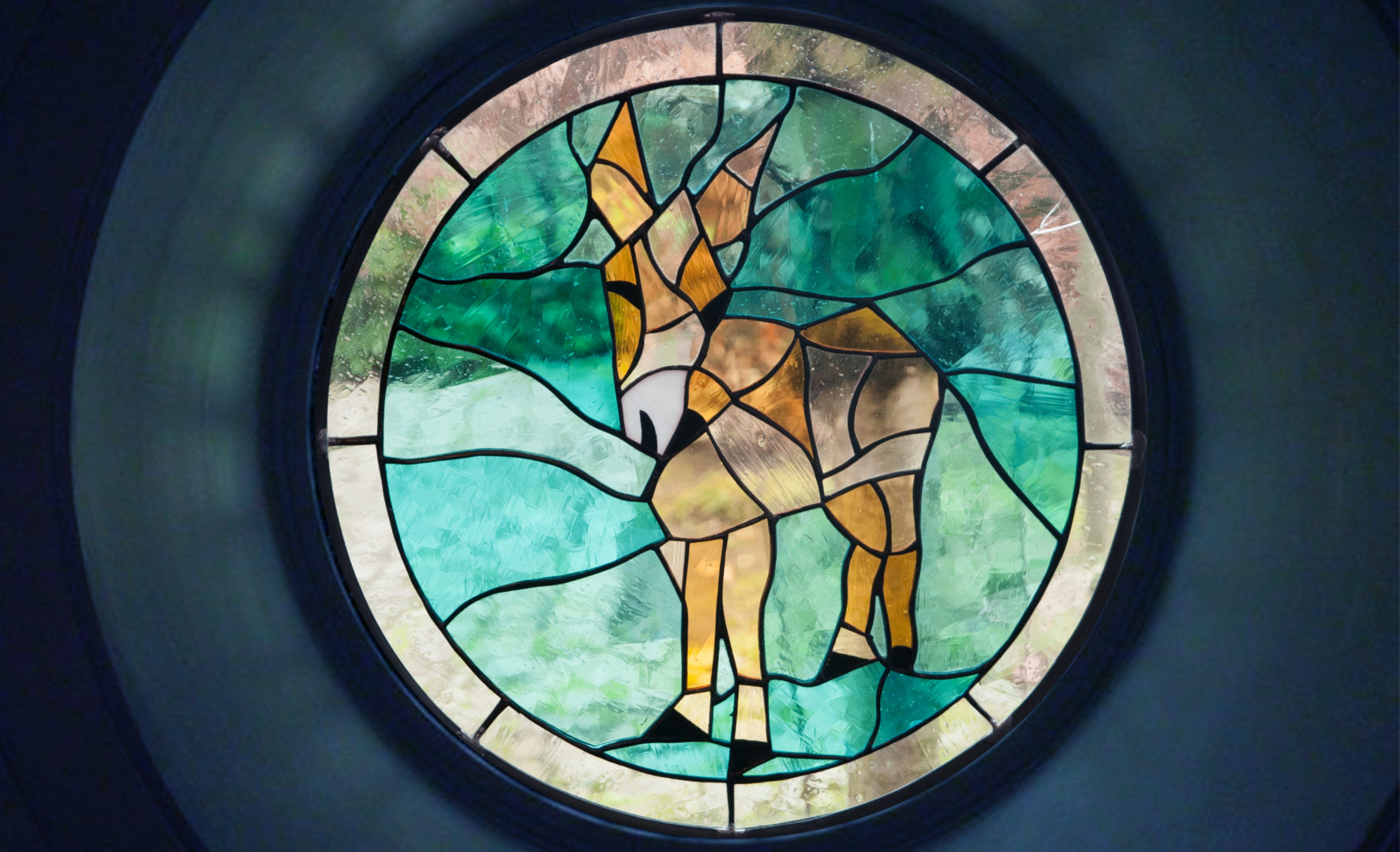 Strange Donkey in stained glass
