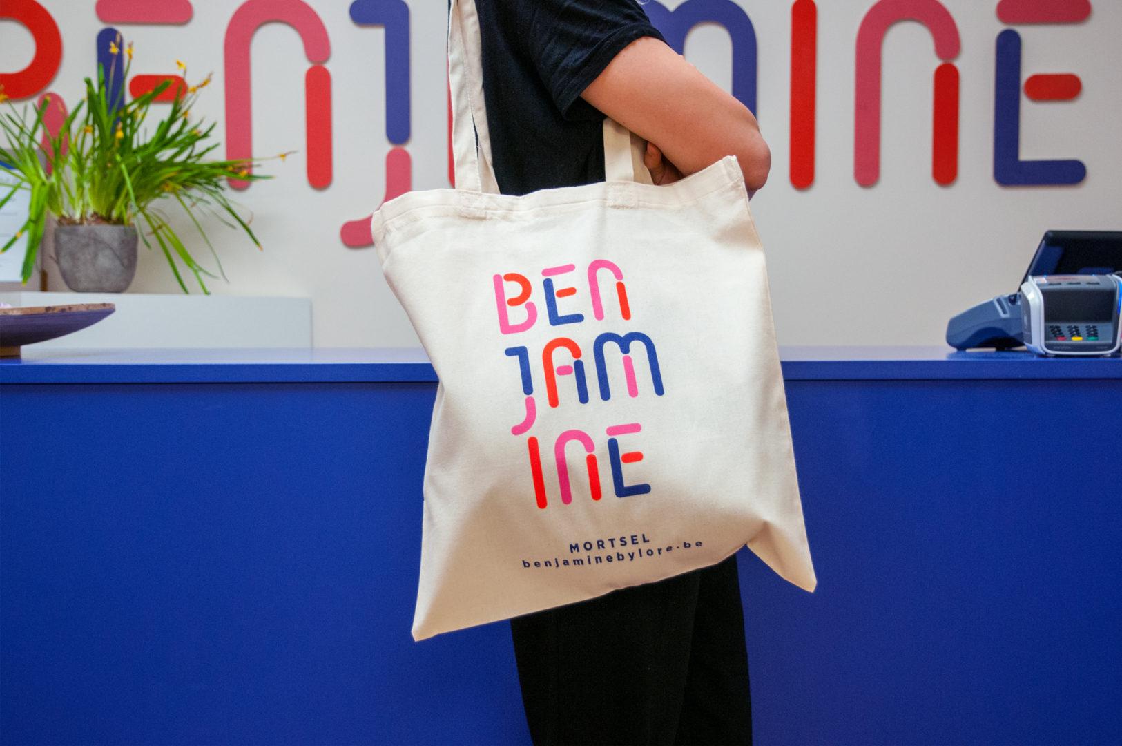 Benjamine tote bag