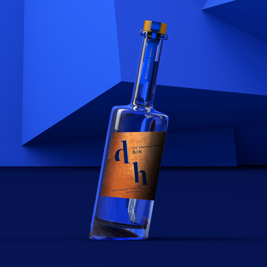 3D of The Drunken Horse Gin Bottle