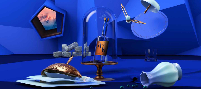 Deatil 3D Surrealism of The Drunken Horse Gin
