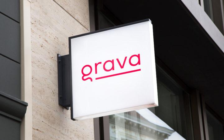 GRAVA signage